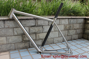 Titanium & carbon mixed bike frame