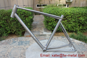 titanium double tube bike frame titanium mountain bike frame