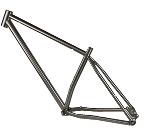 Custom titanium MTB bike frame with 29 inch wheel