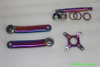 Chinese made titanium bike crank set / spider / locking with rainbow color